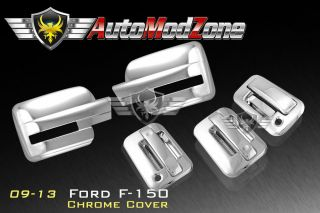 09 2013 F150 3DR Chrome Door Handle Tailgate Mirror Cover Combo w O Keypad PSG