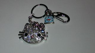 16GB Silver Hello Kitty Rhinestone Crystal Jewelry Flash Drive USB Memory