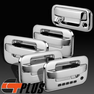 04 2012 Ford F 150 Pickup Triple Chrome 4 Door Handle Tailgate Covers Combo Set