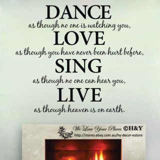 Removable Wall Art Quotes Vinyl Decal Stickers Decor Dance Love Sing Live