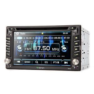 "G2104U 6 2"" Double DIN Car DVD Player GPS Nav Bluetooth Touch Screen Stereo Map"