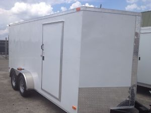 2014 Enclosed Trailer 7x14 Cargo Trailers Look at These Upgrades Black or White