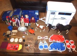 Lot Breyer Truck Trailer Traditional Horse Size Barn Rider Dolls Accessories