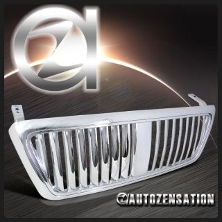 04 08 Ford F150 Truck Euro Chrome Vertical Style Hood Grill Grille