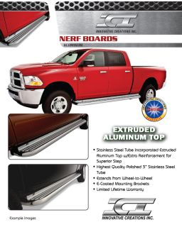 Running Boards Stainless w Alum Top 00 13 Chevy GMC Silverado Sierra Ext lb 8'