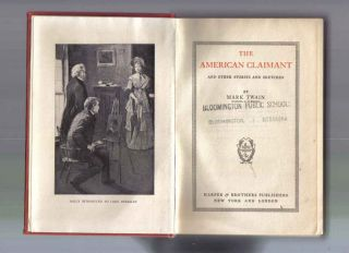Antique Book – American Claimant by Mark Twain Signed Illustrated
