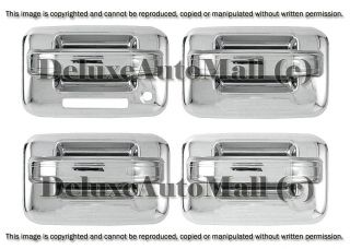 2004 2013 Ford F150 Chrome Door Handle Covers 4 Door Set with Keypad No PSKH
