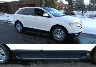 Custom Molded Running Boards 2007 2012 Ford Edge MKX Black Factory Style Steps