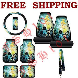 Disney Tinkerbell Moody Car Truck Seat Covers Steering Wheel Cover Floor Mats