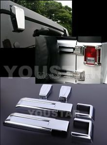 6 Pcs Jeep Wrangler Unlimited Chrome Rear Door Hinge Cover Set 2007 2011