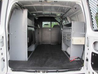 2004 Ford E250 Cargo Van 4 6L V8 Ladder Racks Work Bins Shelves Bulkhead