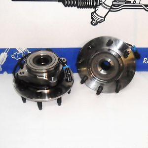 2 New Front 2001 07 GMC Chevy 2500 Front Wheel Hub and Bearing Assembly 4x4 ABS