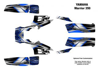 Yamaha Warrior 350 Quad Graphic Decal Sticker Kit 7777BLUE