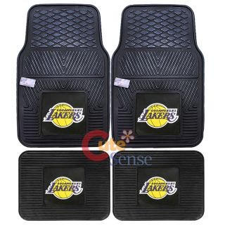 Los Angeles Lakers Car Floor Mat 4pc Rubber Utility FANMATS Auto Accessories