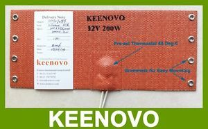 Keenovo Silicone Heating Pad Mat Car Fuel Filter Heater Diesel Heater 12V 200W