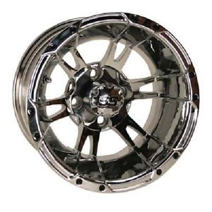 ITP 12 x 7 SS112 Chrome Golf Cart Car Rim Wheel New