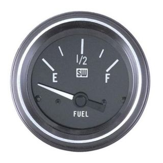 New Stewart Warner Heavy Duty Fuel Level Gauge Black