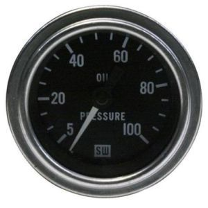 Stewart Warner Mechanical Oil Pressure Gauge 5 100 PSI