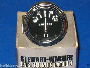 Vintage Stewart Warner Amp Gauge SW 82311 Amperes Hot Rod Rat Rod Custom