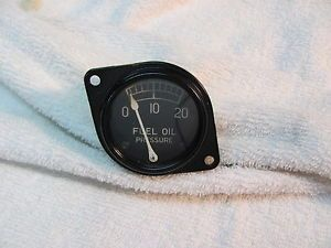Vintage Stewart Warner Black Bezel 2 inch Fuel Oil Pressure Gauge Old Stock