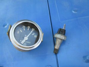 Vintage Stewart Warner 2'' Oil Pressure Gauge and Sending Unit