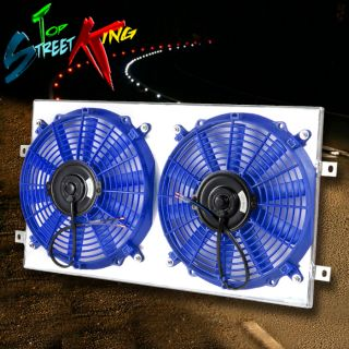 94 98 VW Golf MK3 VR6 Lightweight Racing Aluminum Radiator Dual Fan Shroud Blue