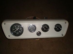 Chrysler Marine Stewart Warner Gauge Panel Tach Alternator Oil Water Temp Meters