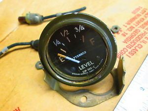 1950's Stewart Warner Military Jeep Power Wagon Fuel Gauge 7728852 24 Volt Truck