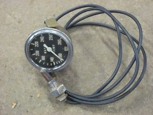 "Vintage Stewart Warner 2 5 8"" Mechanical Water Temp Gauge 265 Degree Temperature"