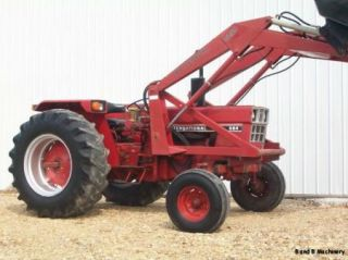 International Harvester 684 Farm Tractor w Loader