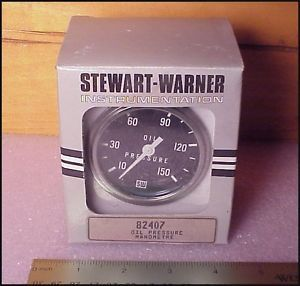 Stewart Warner Oil Pressure Gauge PN 82407 10 150 PSI