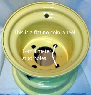 "8"" Rim Wheel for Kubota Riding Lawn Mower Garden Compact Tractor No Coin Rim 8x7"
