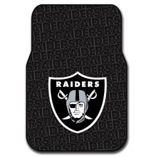 Oakland Raiders NFL Licensed Rubber Car Truck Floor Mats Set 2 Mats