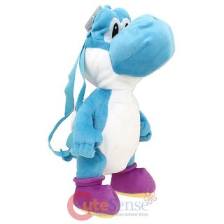 "Super Mario Brothers Blue Yoshi Plush Doll Backpack 19"" Costume Bag Licensed"
