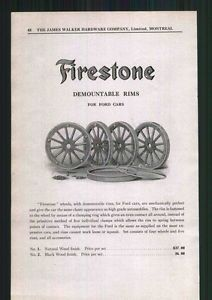 1918 Ad Firestone Tire Wood Wheel Rims Ford Cars Autos Model T