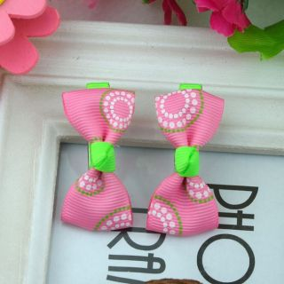 One Pair 2pcs Lovely Cute Barrettes Hairclips Baby Girl Toddler 046