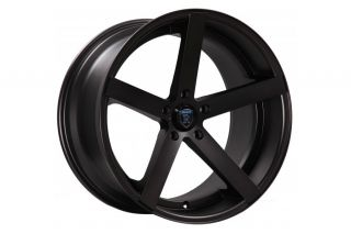 "20"" Nissan 350Z Rohana RC22 Deep Concave Black Staggered Wheels Rims"
