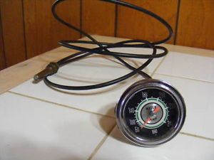 "Vintage Stewart Warner Green Line Mech Water Temp Gauge 2 1 16"" 361AT 72 R3"