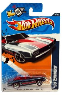2012 Hot Wheels Muscle Mania GM 108 1969 Chevy Camaro Super Treasure Hunt