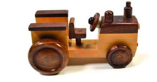 Hand Carved Wooden Toy Truck Fire Truck Engine Fair Trade Handmade Expressions