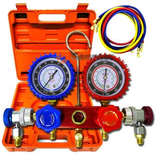 HVAC A C Refrigeration Kit AC Manifold Gauge Set R22 R404A R134a Auto Freon Kit