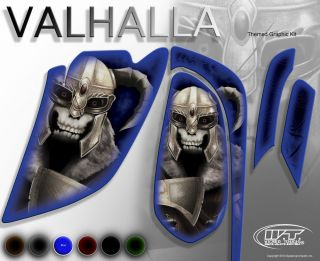 "Yamaha Raptor 660 Model ""Valhalla"" Graphics Kit Blue Fenders"