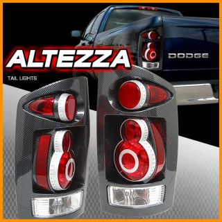 02 03 05 Dodge RAM APC Carbon Fiber Tail Lights Altezza