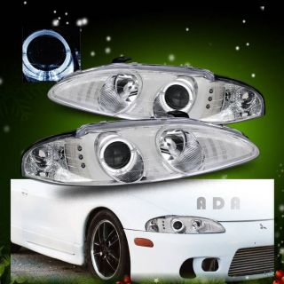95 96 Mitsubishi Eclipse Talon Dual Halo Projector Chrome Headlights Xmas Gift