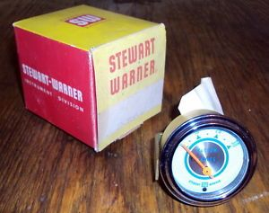 Vintage Stewart Warner Vacuum inches Hot Rod Rat Rod Gauge with Box
