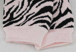 Fashion Toddler Baby Children Girl Pink Zebra Stripes Leg Warmers Cotton Socks
