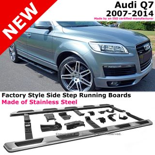 Audi Q7 07 14 Stainless Steel Running Board Side Steps Nerf Bars Gunmetal Black