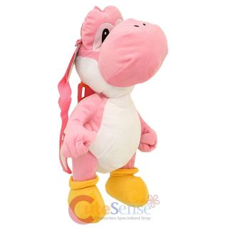 "Super Mario Brothers Pink Yoshi Plush Doll Backpack 19"" Costume Bag Licensed"