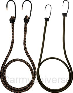 Camouflage Outdoors Heavy Duty Steel 4 Pack Deluxe Bungee Shock Cords