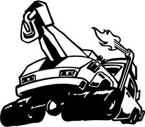 Tow Truck Classic Vinyl Decal Window Car Truck RV Bike Trailer Sign Wall Sticker